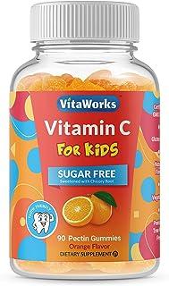 VitaWorks Sugar Free Vitamin C for Kids – Great Tasting Natural Flavor Gummy Supplement – Gluten Free Vegetarian GMO-Free ...