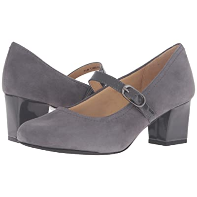 Trotters Candice (Dark Grey Kid Suede Leather/Patenet) High Heels