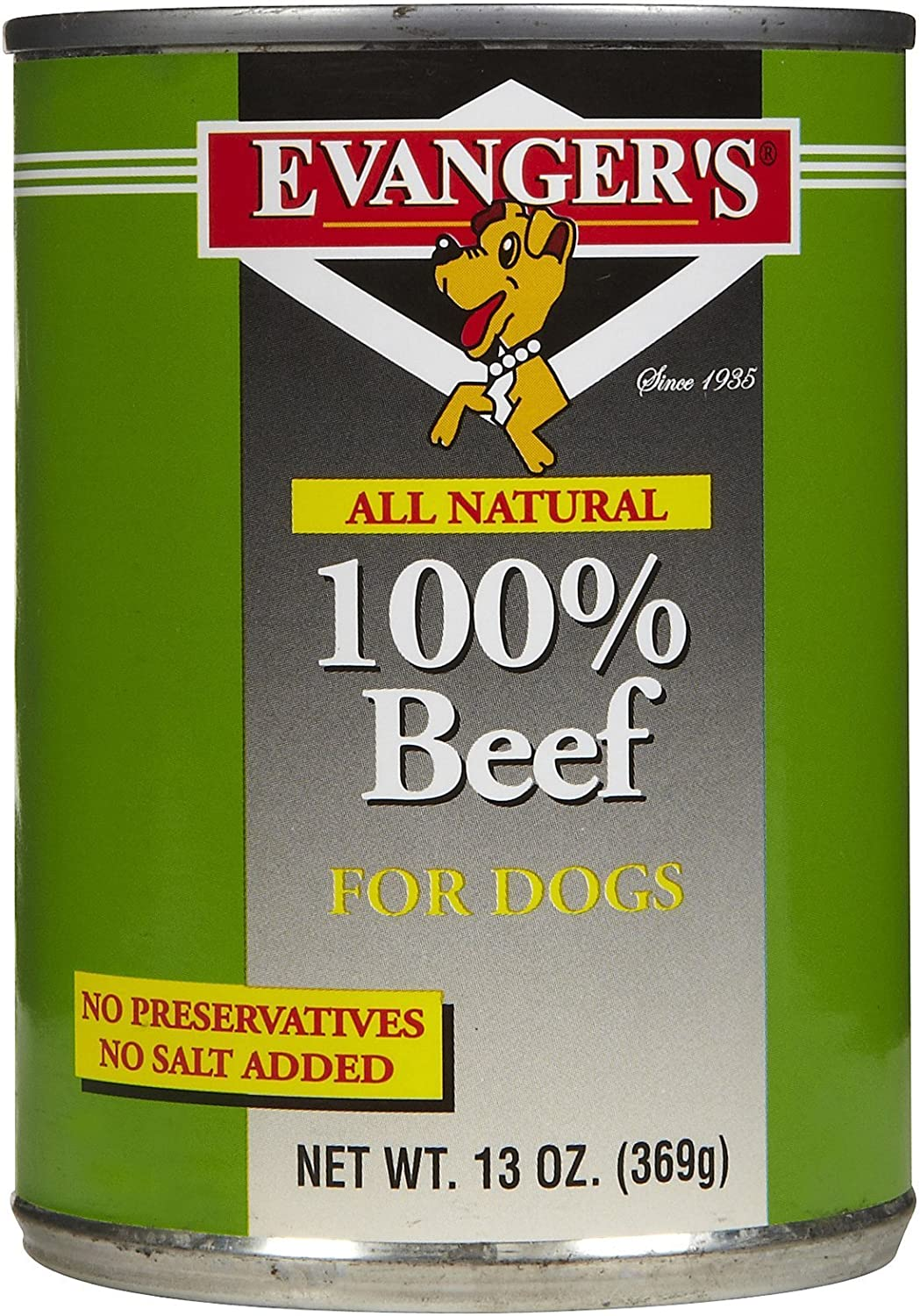 Evanger'S All Natural 100Percent Beef For Dogs, Case Of 24