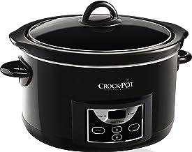 Crock-Pot SCCPRC507B-050 Autokap Slowcooker, Digitale Countdown-Timer, Warmhoudfunctie, 4,7 L Inhoud, Ovenveilig, Zwart