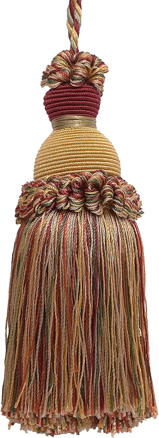 DÉCOPRO Decorative Direct stock discount 5 Long-awaited inch Key Gold Green Wine Imperial Tassel