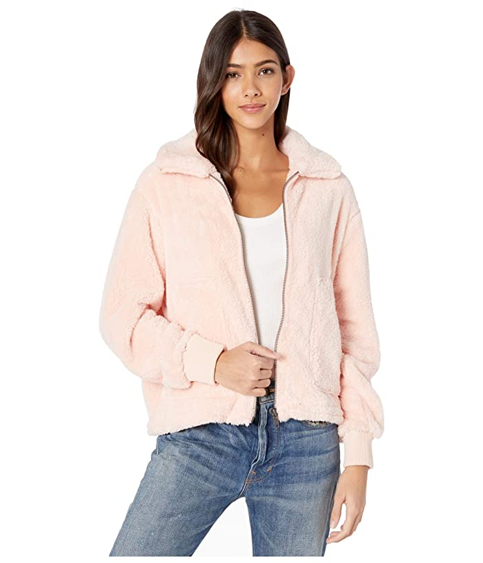Pink Furry Billabong Jacket
