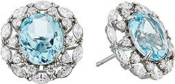 Raven Crystal Stud Earrings