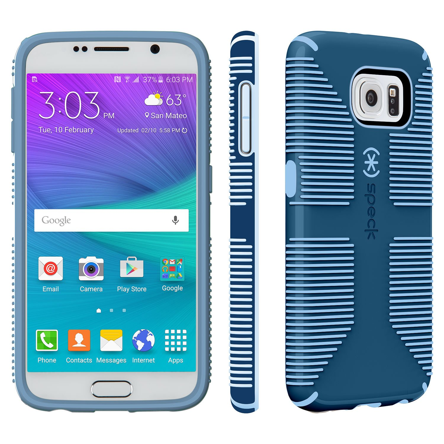 speck galaxy s6 amazon comspeck candyshell grip samsung galaxy s6 cases harbor blue periwinkle blue