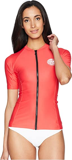 Rip Curl Belle Zip Through Short Sleeve Top