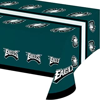 Creative Converting Officially Licensed NFL Plastic Table Cover, 54x102, Philadelphia Eagles
