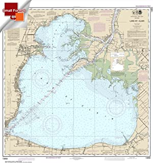 Paradise Cay Publications NOAA Chart 14850: Lake St. Clair 21.00 x 19.79 (SMALL FORMAT WATERPROOF)