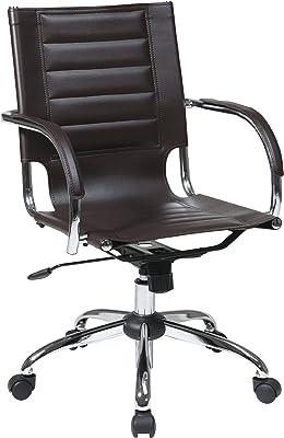 OSP Home Furnishings Trinidad Office Chair, Espresso