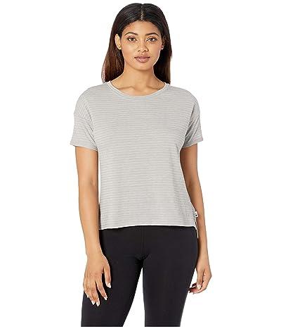 The North Face Short Sleeve Emerine Top (Silt Grey Desert Stripe) Women