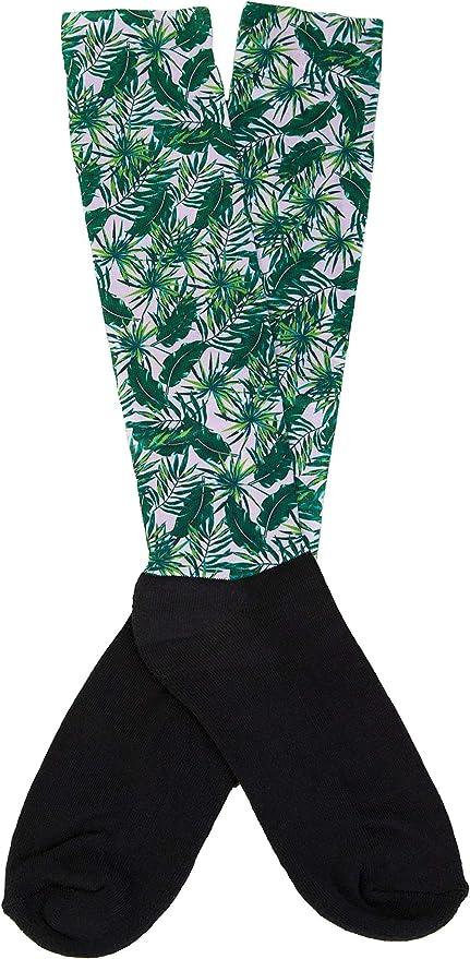 Lettia Palm Tree Nylon Spadex Boot Sock