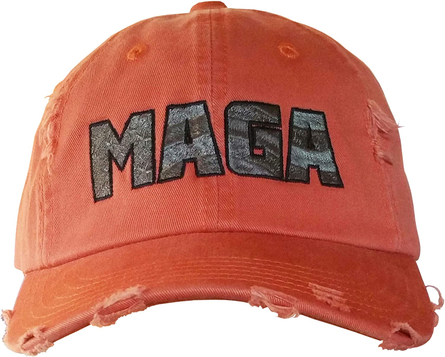 MAGA Hat - American Max 65% OFF Flag Trump Embossed Manufacturer direct delivery in OrangeRip Cap
