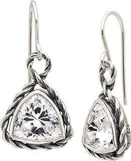edd080cb8 Silpada 'Looking Glass' 6 ct Cubic Zirconia Drop Earrings in Sterling Silver