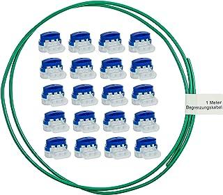 lohag® 20 Conectores de Cables en una Caja + 1m Cable delimitador con Set de reparación - Abrazaderas de conexión Impermea...