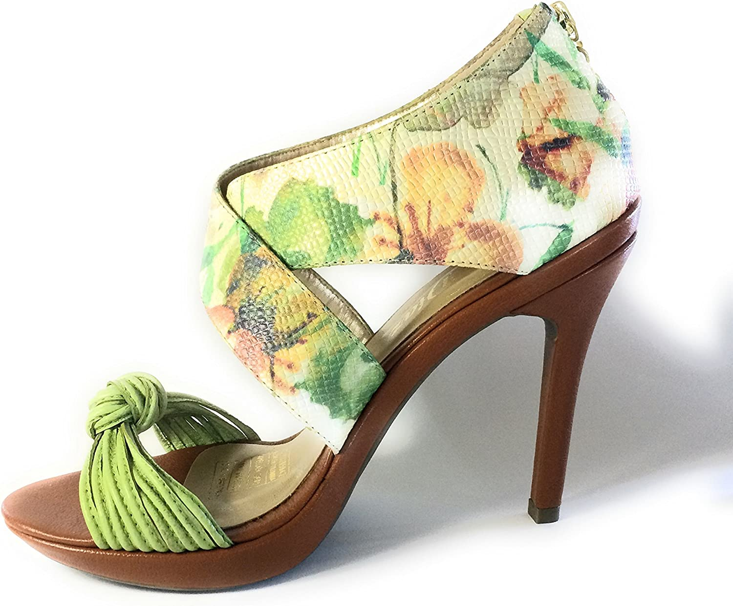 Silvia Diaz Fashion shoes Two-Part High Heels Sandals Honey Mango Green