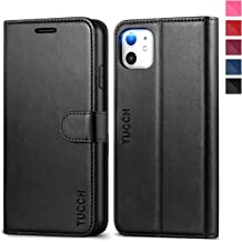 TUCCH iPhone 11 Case, iPhone 11 Wallet Case with RFID Blocking Viewing Stand Card Slots Magnetic Closure PU Leather Flip Cover Compatible with iPhone 11 (2019 Release 6.1 inch), Black