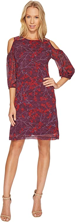 Christin Michaels - Cecily Cold Shoulder Floral Dress