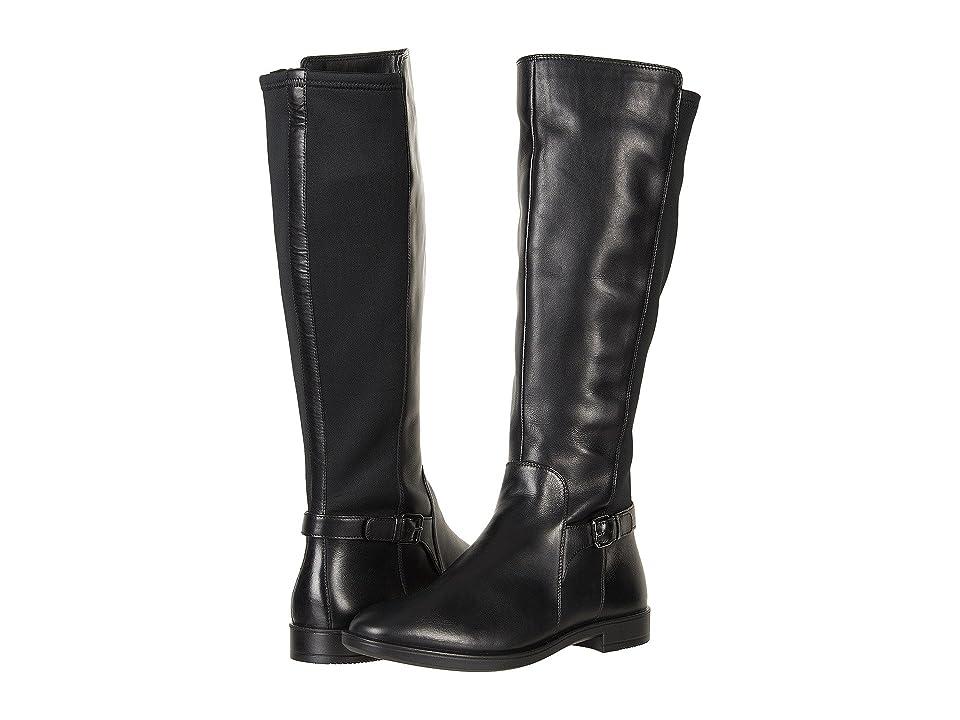 ECCO Shape M 15 Tall Boot (Black/Black Cow Leather/Textile) Women