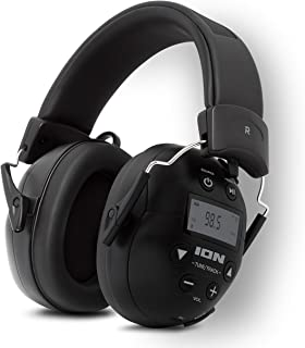 ION Audio Soundproof Earmuffs Block Value 27dB Noise Reduction Bluetooth Enabled Phone the Am/Fm Radio with Tough Sounds II
