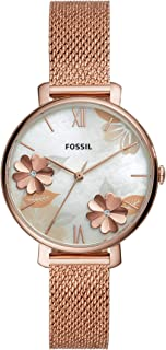 Fossil Womens Quartz Watch, Analog Display and Stainless Steel Strap ES4534