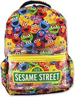 Gang Elmo Boys Girls Toddler 16 inch School Backpack (One Size, Multicolor)