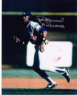 Pedro Guerrero Autographed Photo - 81 WS CHAMPS 8x10 - Autographed MLB Photos