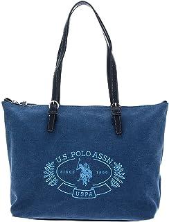 U.S. POLO ASSN. Springfield Canvas Shopping Bag M Navy