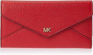 محفظة بثلاث طيات وتصميم رفيع وكبير للنساء من مايكل كورس، احمر فاتح - 34F9GF6E7L