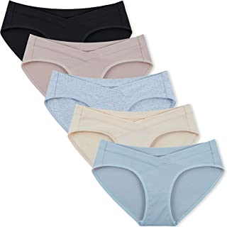 INNERSY Women's Maternity Panties Cotton Plus Size Pregnancy Underwear 5 Pack