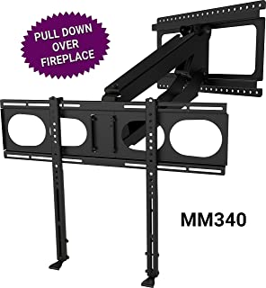 MantelMount MM340 - Above Fireplace Pull Down TV Mount