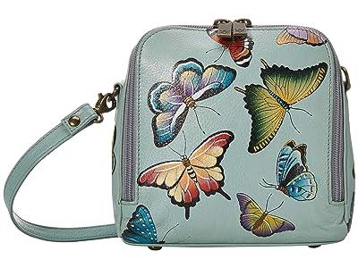 Anuschka Handbags Zip Around Travel Organizer 668 (Butterfly Heaven) Handbags