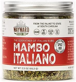 Mambo Italiano Italian Herb Seasoning by Wayward Gourmet - Gourmet Spice Rub for Chicken, Meat, Veggies, Pasta and Pizza - Best Mediterranean Herb Seasoning Blend - Gluten Free, Salt Free, No MSG