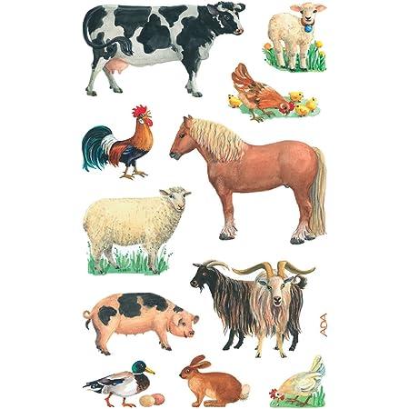 3 B/ögen 26 Sticker Hunde, Papiermaterial AVERY Zweckform 4340 Aufkleber f/ür Kinder