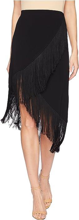 Rarified Fringe Knit Skirt