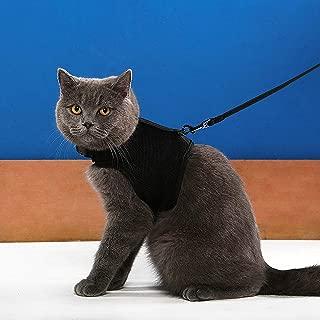 Niteangel 2-Pack of Adjustable Cat Harness with Elastic Leash