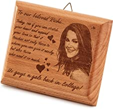 Presto® Personalized Wooden Unique Laser Engraved Personalized Gift for Happy Birthday, Valentine Day, Weeding, Anniversary Special Occasion Gift for Girlfriend or Couple