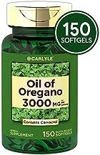 Oregano Oil 3000 mg 150 Softgel Capsules   Contains Carvacrol   Non-GMO & Gluten Free   Oil of Oregano Pills by Carlyle