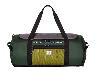 Herschel Supply Co. Sutton Carryall (Greener Pastures/Grey/Cyber Yellow) Duffel Bags