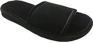 Dearfoams Men's Memory Foam Mesh Slide Sandal Slippers