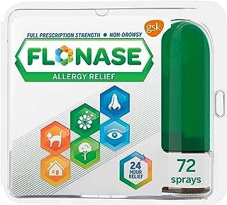 Flonase Allergy Relief Nasal Spray, 24 Hour Non Drowsy Allergy Medicine, Metered Nasal Spray - 72 Sprays