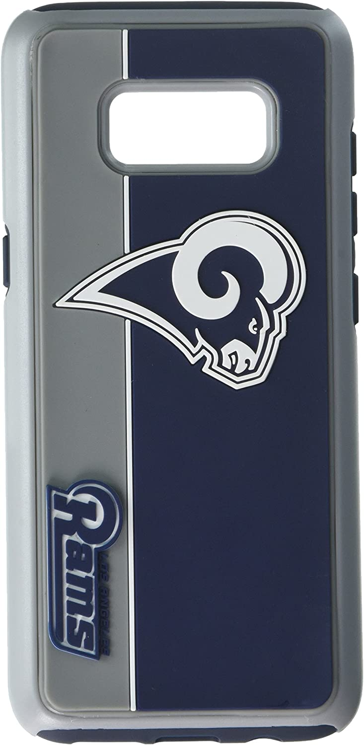 Forever Collectibles Samsung Galaxy S8 Dual Hybrid Bold Case  NFL Los Angeles Rams
