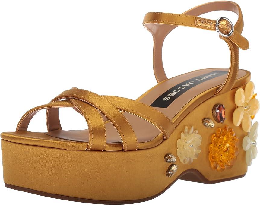 Marc Jacobs Womens M9002090 Callie Embellished Wedge Sandal