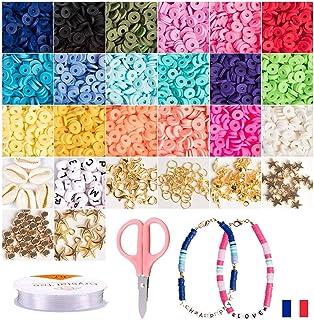 Perle argile polymère pour la fabrication bijoux enfant. Perles D'espacement, Perles heishi Activités Manuelles Adultes En...