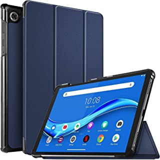 For Lenovo Tab M10 FHD PLUS 2nd Gen 10.3'' inch Leather Smart Folio Stand Sleep / Awake Flip Stand Magnetic Case Cover (Navy Blue)