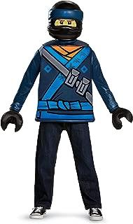 Disguise Jay Lego Ninjago Movie Classic Costume, Blue, Medium (7-8)
