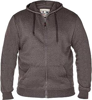 Duke Mens Rockford Kingsize Cantor Zip Through Hooded Sweatshirt