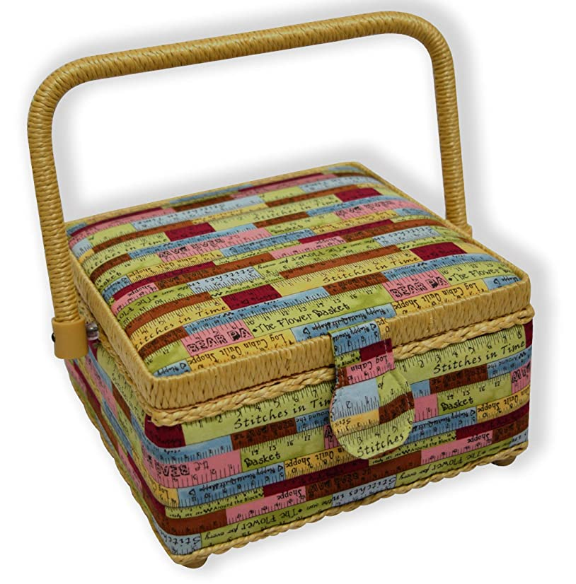 Parera Tape Measure Box, Organizer, Sewing Fabric, Yellow One Size