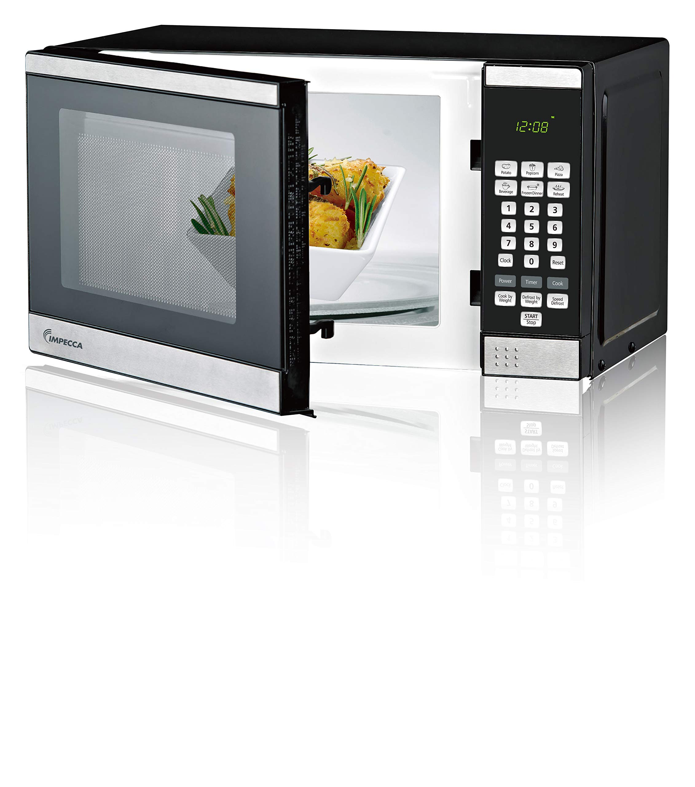 Impecca Countertop Microwave Digital Stainless