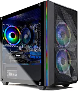 Skytech Chronos Mini Gaming PC Desktop - AMD Ryzen 5 3600 3.6GHz, GTX 1650 Super 4G, 16GB DDR4 3000, 500GB SSD, AC WiFi, Windows 10 Home 64-bit, Black