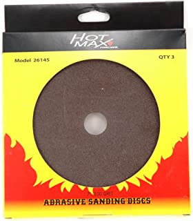 Hot Max 26140 7-Inch 16 Grit Abrasive Sanding Disc with 7/8-Inch Hole, 3-Pack