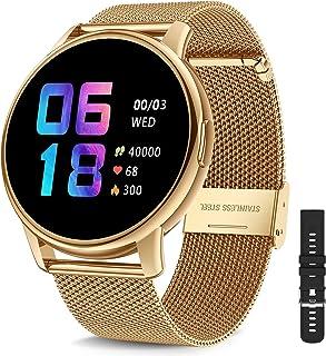 CanMixs Reloj inteligente para teléfonos Android iOS Fitness Tracker con ritmo cardíaco Monitor de sueño impermeable Relojes inteligentes para hombres mujeres Cardio Smartwatch